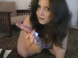 Big ass amateur mature shoves toys in her ass